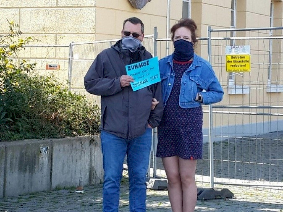 Activists demonstrating in Göttingen City, Germany. Picture: Malihe Bayat